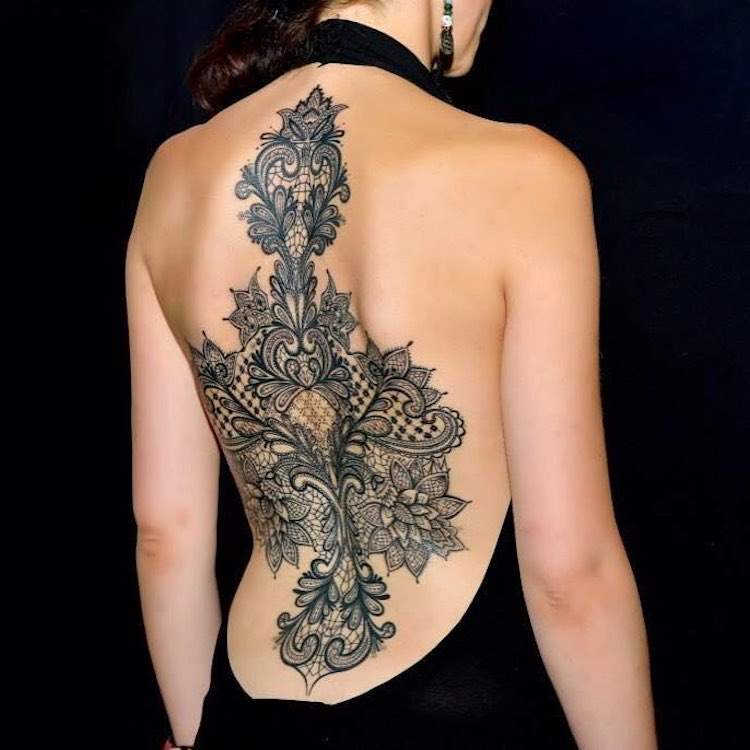 lace tattoo designs perfectly cloak the body in delicate