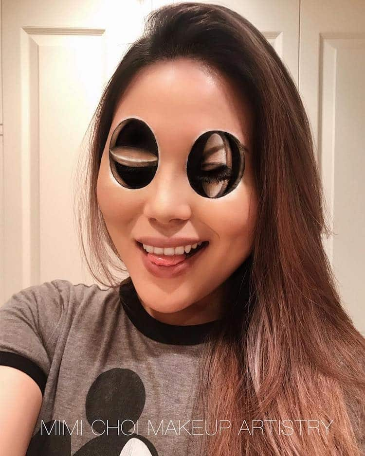 Optical Illusion Makeup by Mimi Choi