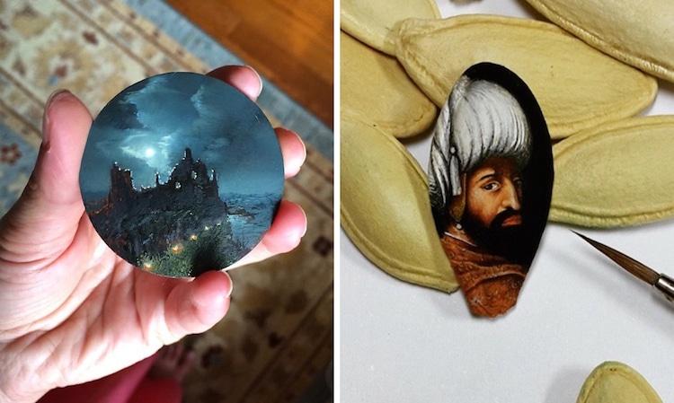 Mini Paintings Tiny Canvas Artists
