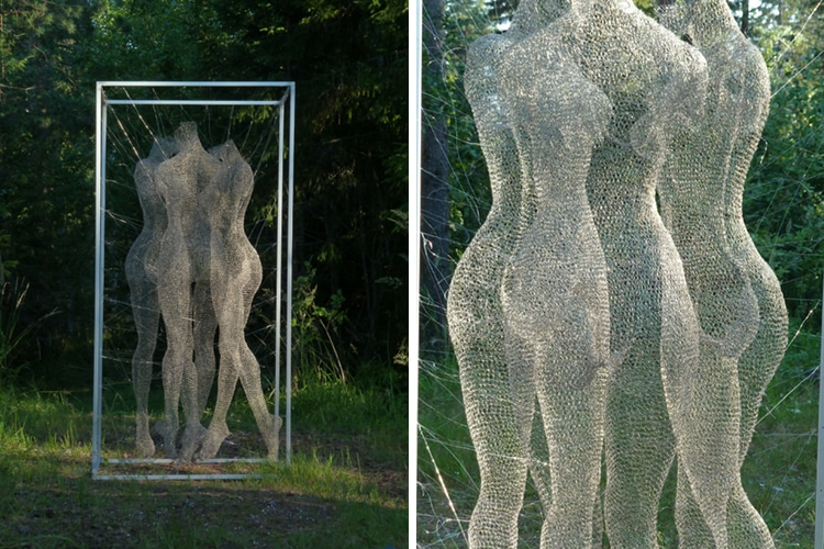 Nadia Zubareva Wire Sculptures