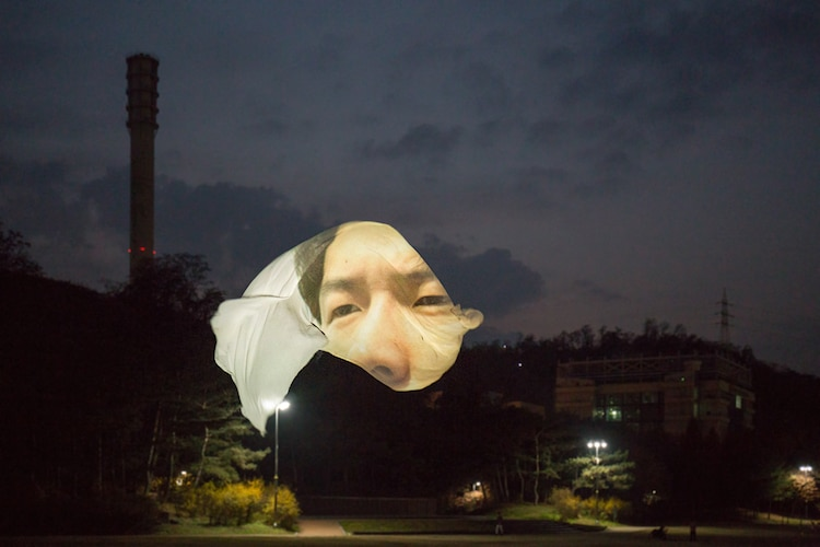 Projection Art Conversations Wonjun Jeong Photography