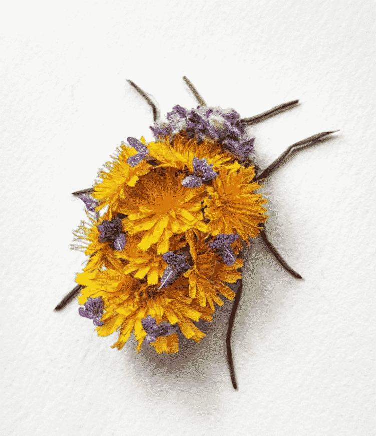 Raku Inoue Insect Art Floral Arrangements