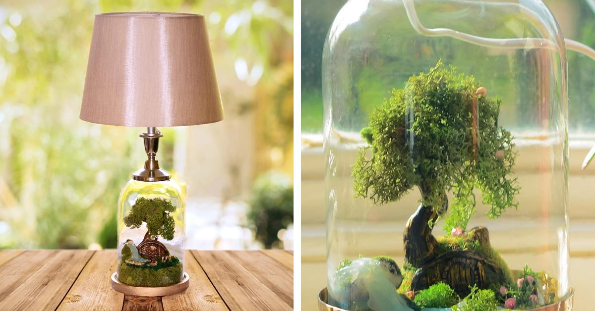 Terrarium Lamp Base Turns Ordinary Lighting Into Fantastical Scenes