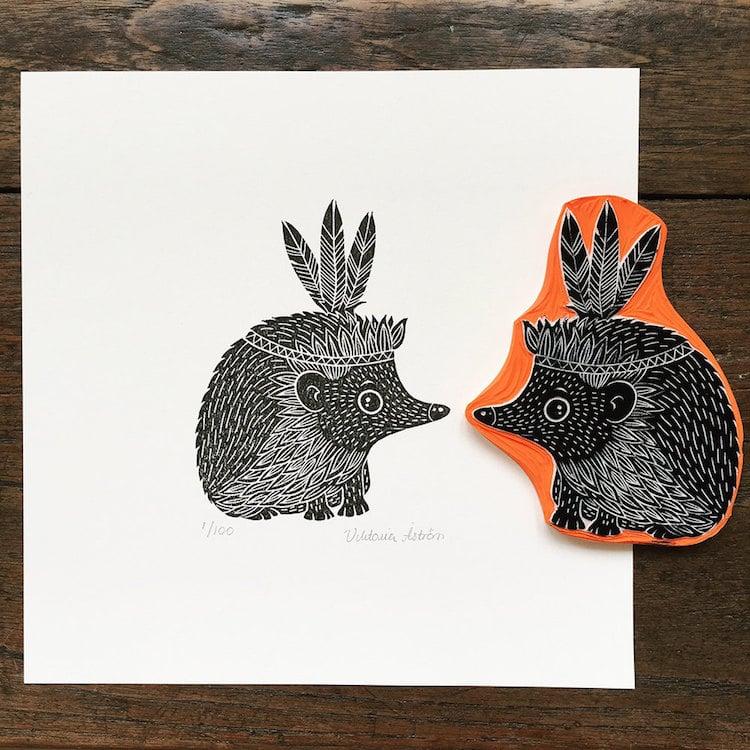 Custom Art Rubber Stamps by Viktoria Åström