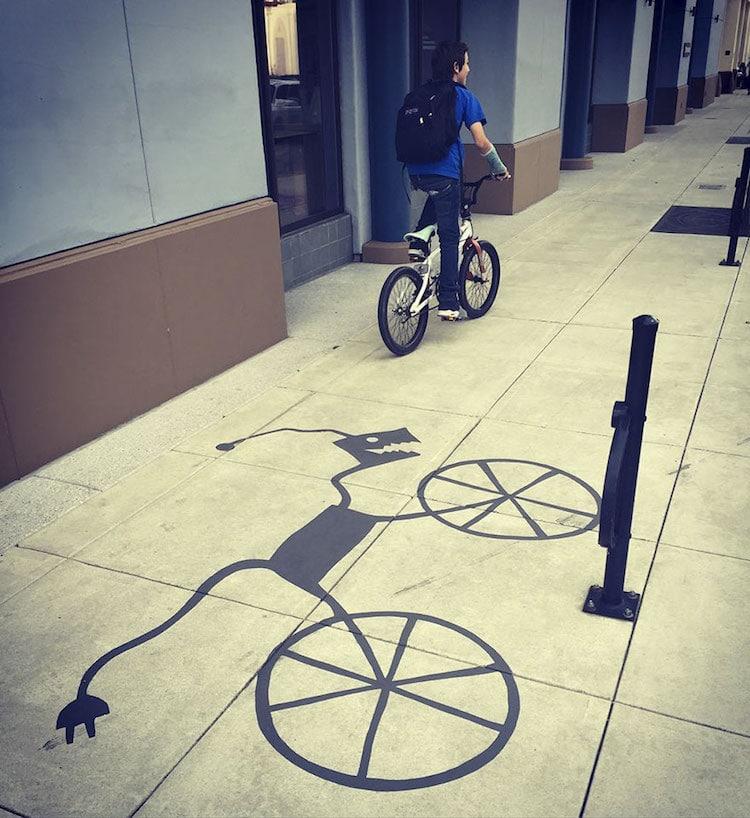 Shadow Art Street Art Damon Belanger Redwood City