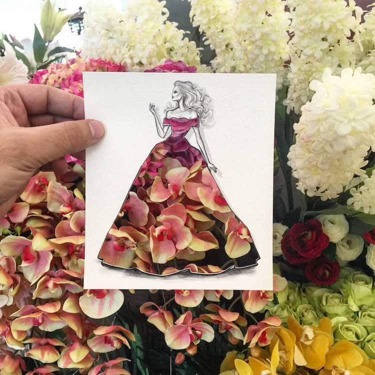 Shamekh Al-Bluwi Fashion Illustrations Paper Cut-Outs