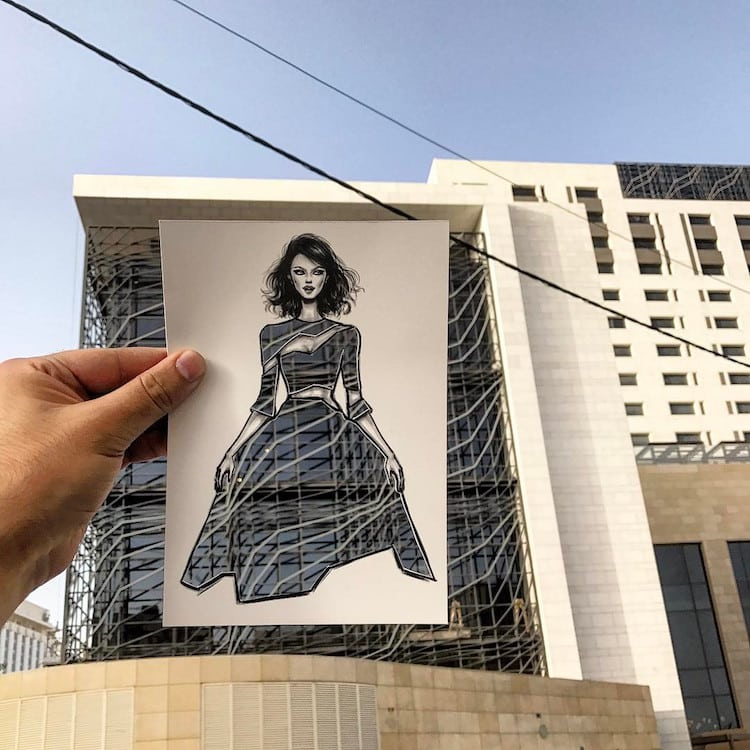 Shamekh Al-Bluwi Fashion Illustrations Paper Cut-Outs