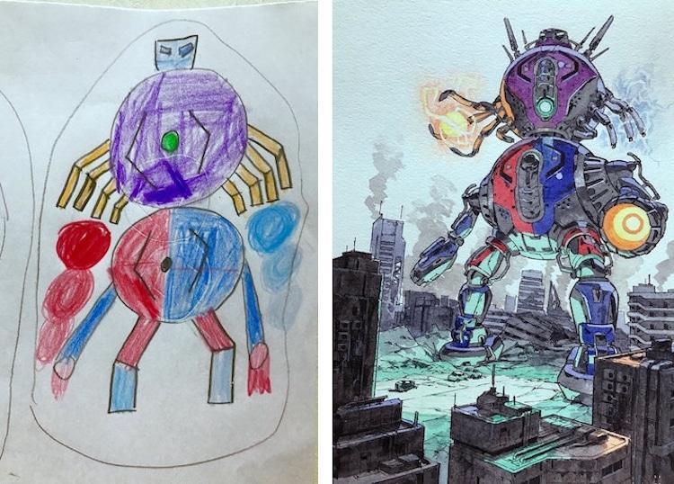 Thomas Romain Father Son Kids Drawing