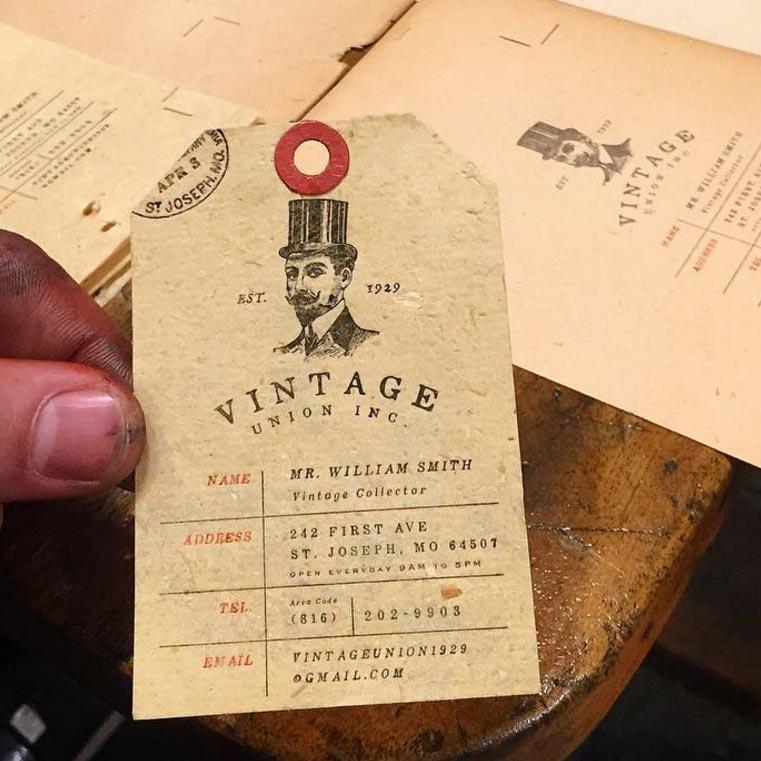 Cool Business Card Designs Vintage Hang Tag