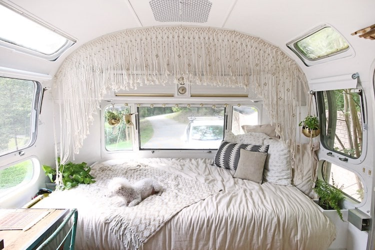 15 camper remodel ideas that will inspire you to hit the road for Airstream christmas decoration