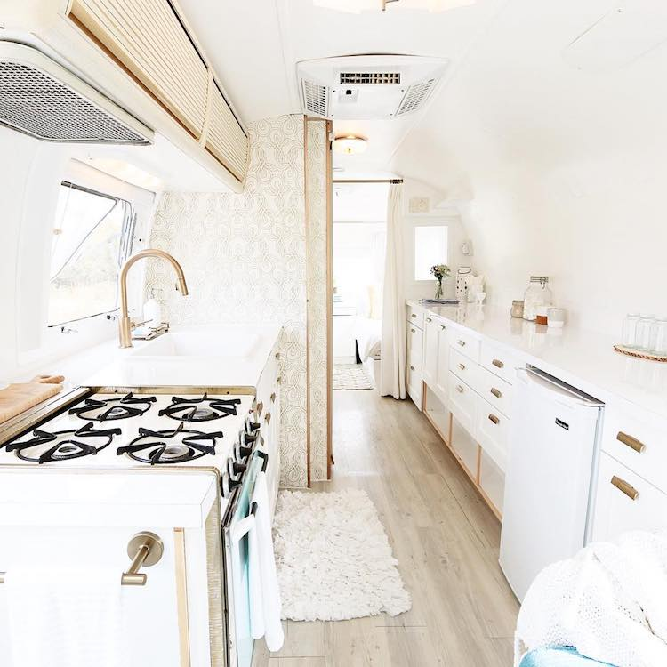 15 camper remodel ideas that will inspire you to hit the road Diy caravan interior design ideas