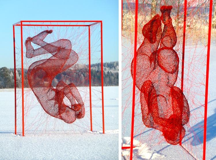 Wire Sculptures Nadia-Zubareva