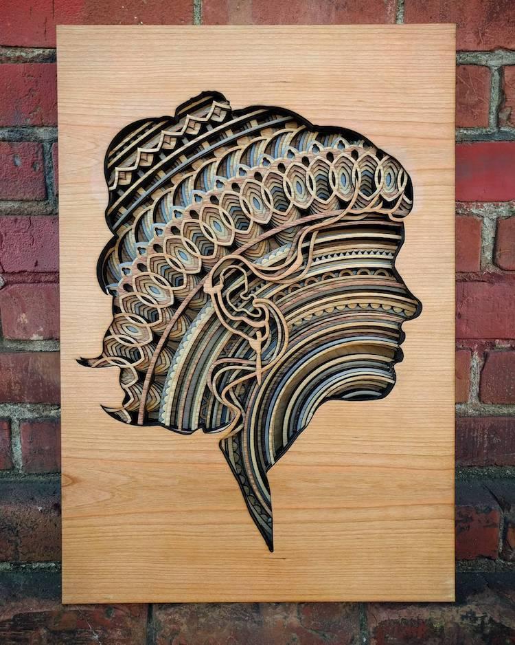 Wood Relief Sculpture by Gabriel Schama