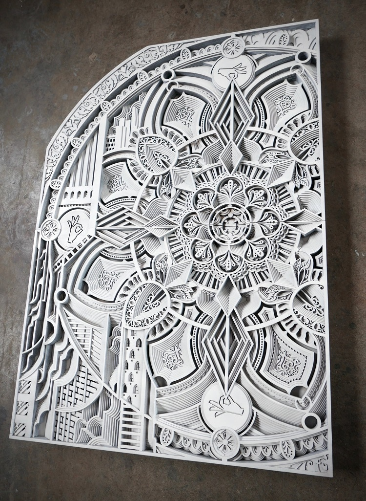 Wood Wall Sculptures by Gabriel Schama
