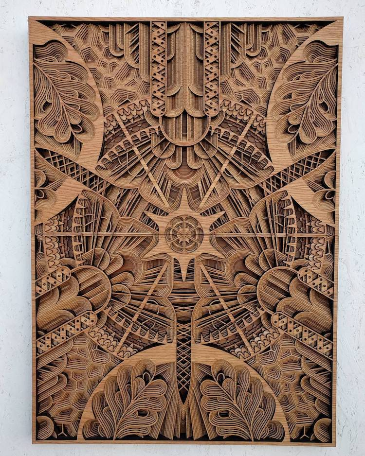 Wood Relief Sculptures by Gabriel Schama