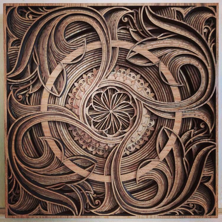 Wood Relief Sculptures by Gabriel Schama