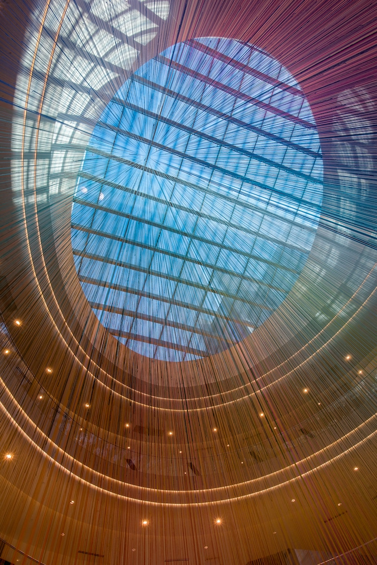 Shimmering Yarn Art Fills the Mall of America with Rainbow Light