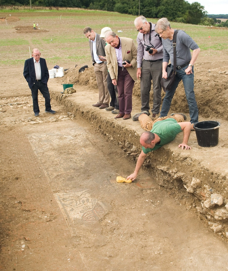 Boxford Ancient Roman Mosaic Discovery