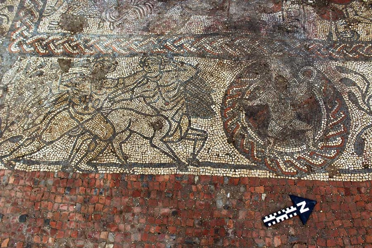 ancient roman mosaic in england