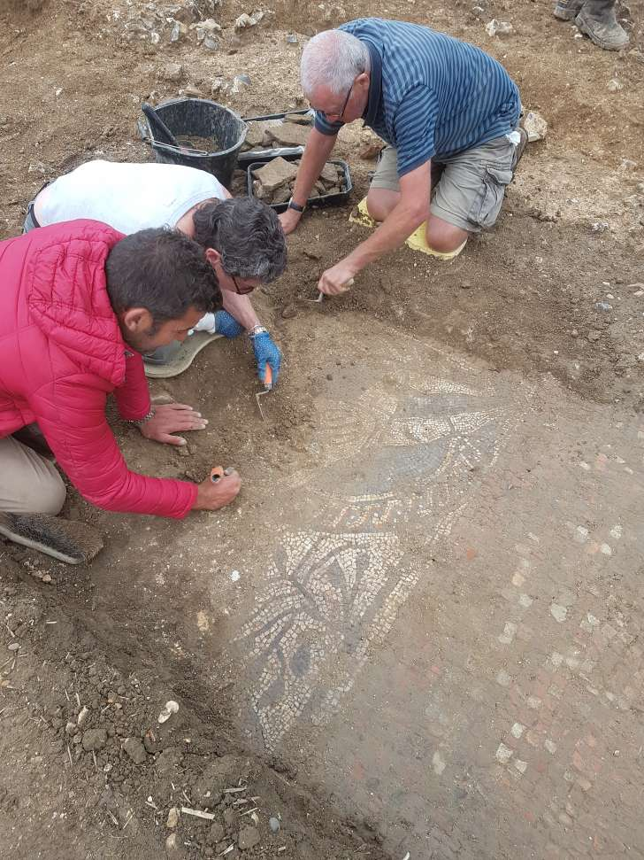 amateur archaeologists discover mosaic in england