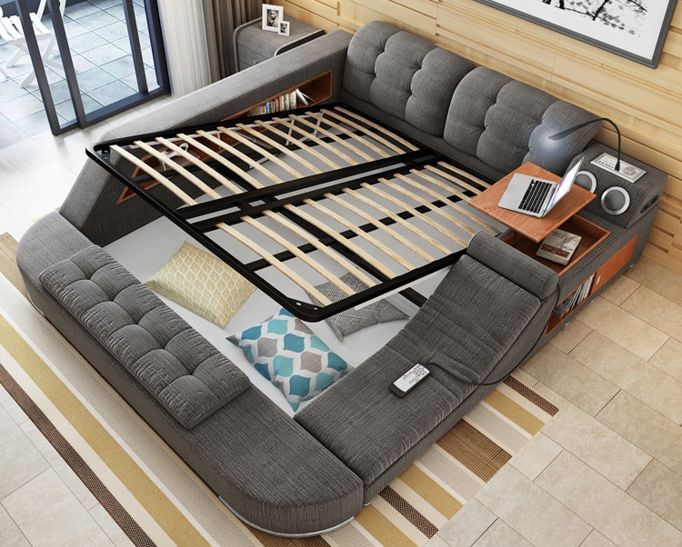 This cool bed is the ultimate piece of multifunctional - All in one double bed ...