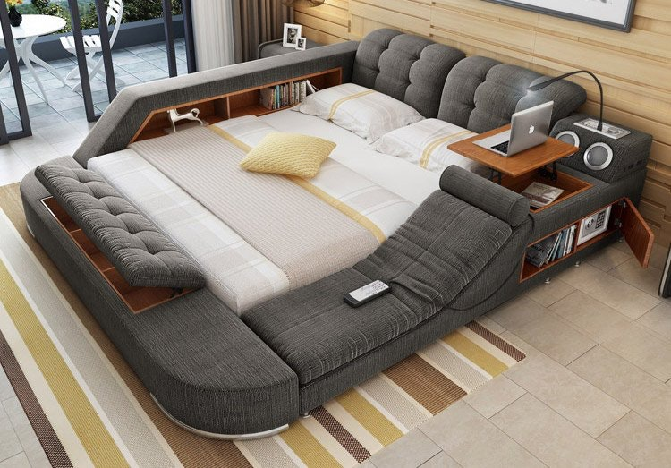 this cool bed is the ultimate piece of multifunctional furniture. Black Bedroom Furniture Sets. Home Design Ideas