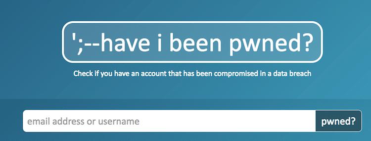 Have I Been Pwned Pwned websites