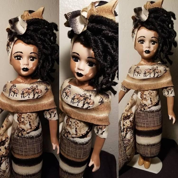 Artist Creates Custom Made Dolls with Vitilligo Skin Condition 48dc1454960d