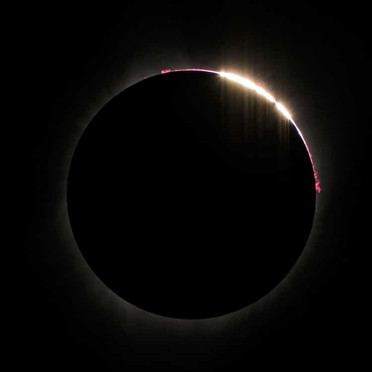 Total Eclipse Composite Photography by Navid Baraty