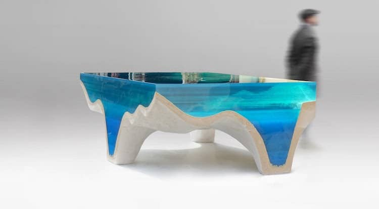 eduard locota acrylic stone table