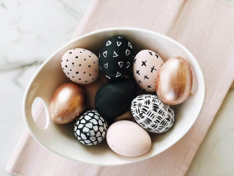 Abstract Art Easter Eggs