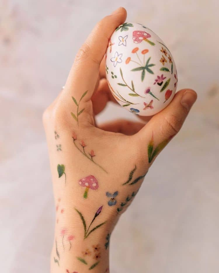 Temporary Tattoos on Easter Eggs
