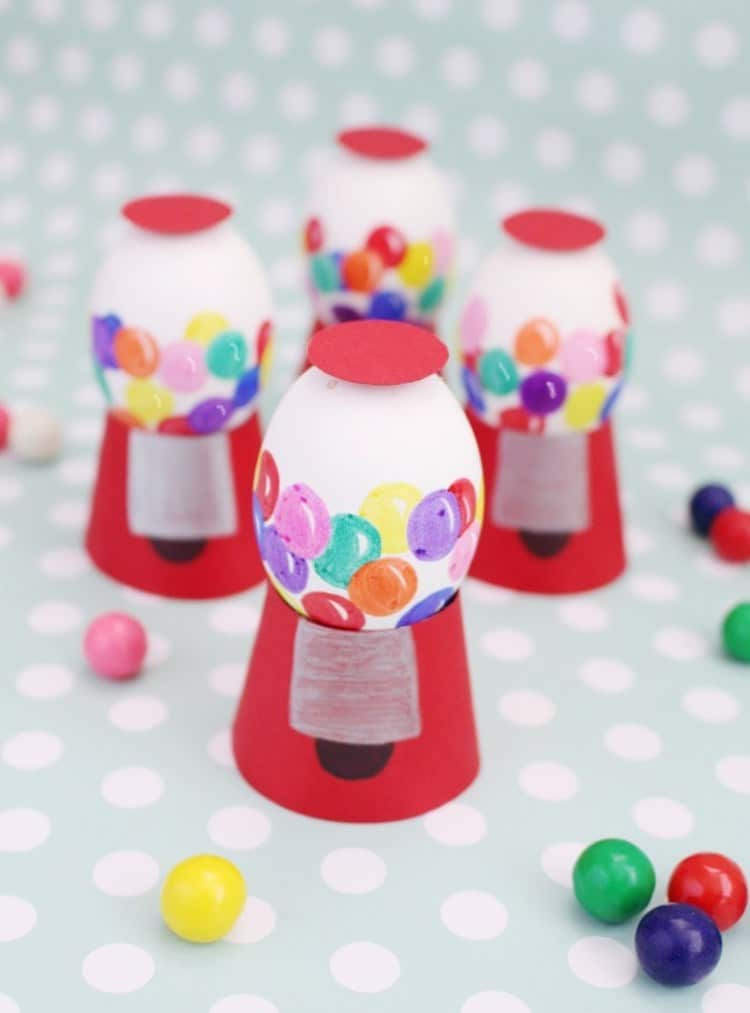 Miniature Gum-ball Machines Made of Eggs