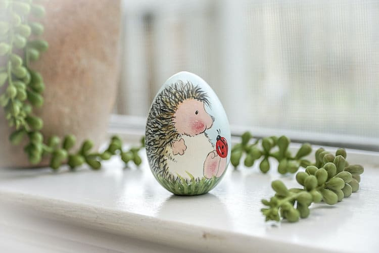 Hedgehog Easter Eggs