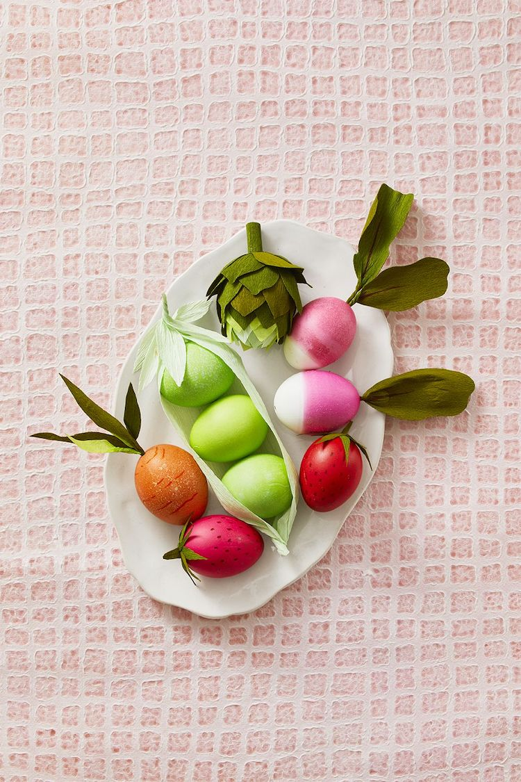 Fruits and Veggie Easter Eggs