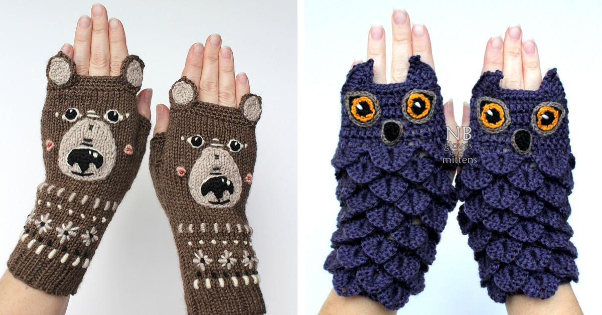 Colorful Knitted Fingerless Gloves Add a Quirky Touch to Wintertime