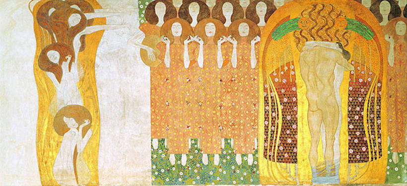 gustav klimt beethoven frieze