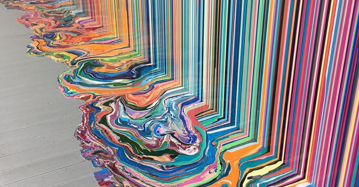 f7488bf1b998d5 Ian Davenport and Swatch Combine for Epic Dripping Paint Installation