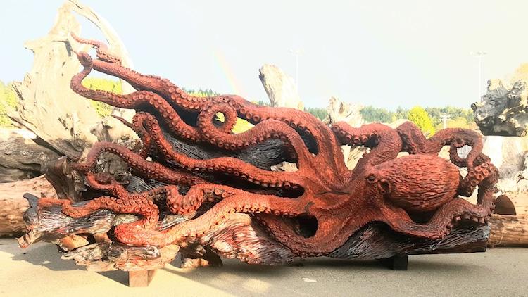 redwood tree octopus art