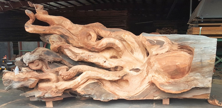 JMS Wood Sculpture - Chainsaw Carving