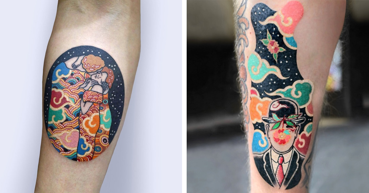South Korean Tattoo Artist Gives Classic Fine Art an