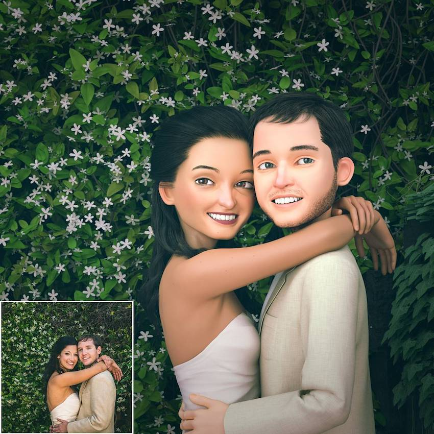 Seniman 3D ini bisa bikin fotomu bak tokoh animasi, keren parah