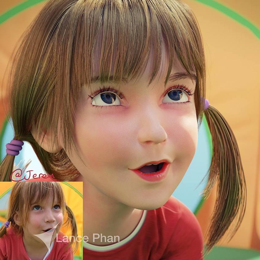 Pixar Characters Portrait Art by Lance Phan