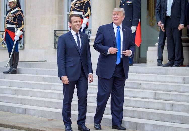 emmanuel macron and donald trump