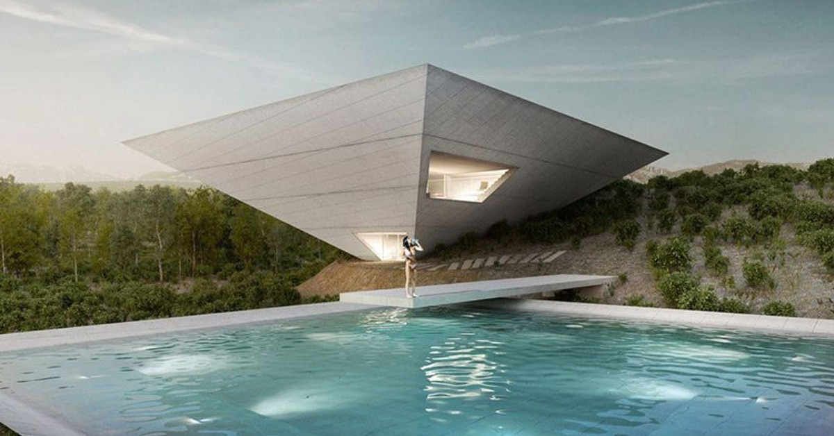Tna Reveals Inverted Pyramid Design For Solo House In