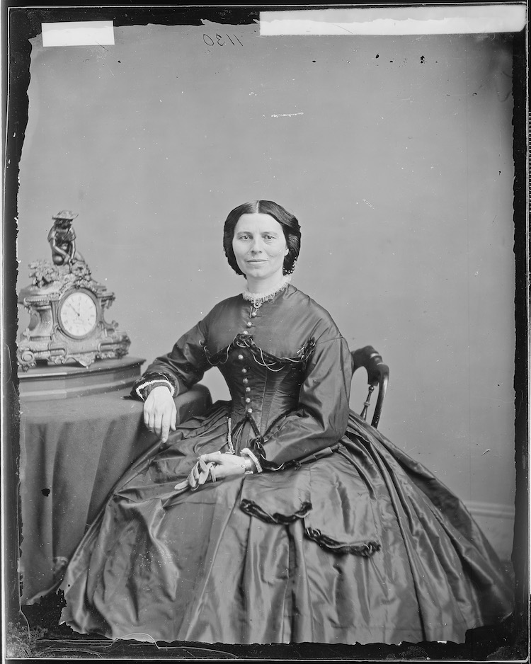 portrait of clara barton by Mathew Brady