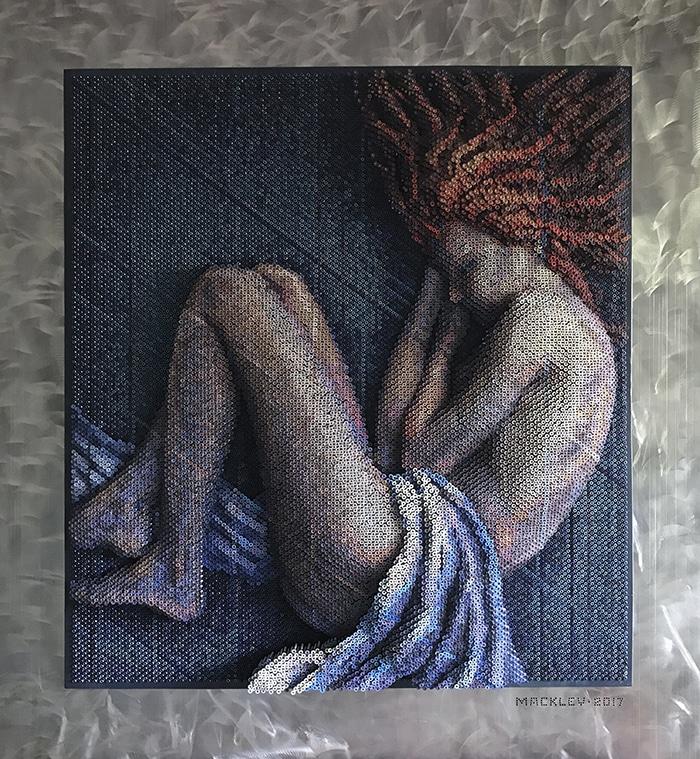 Screw Sculpture Art by Bruce Mackley
