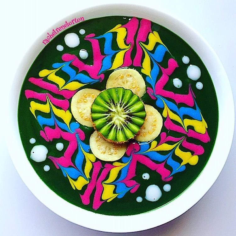 Smoothie Bowl Pop Art Food by Rachel Lorton