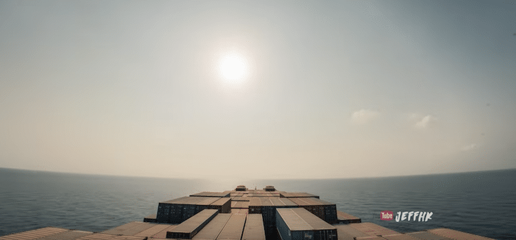 Cargo Ship Travel Time Lapse Video