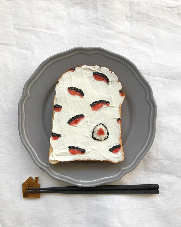 Toast Art by Eiko Mori